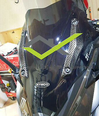 Kymco Ak550 Windshield Screen Side Covers / Panels Carbon