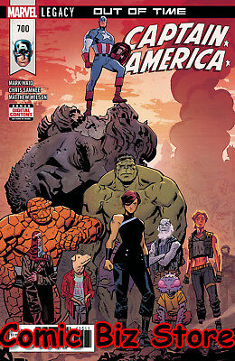 Captain America #700 (2018) 1St Printing Bagged & Boarded Marvel Legacy ($5.99)