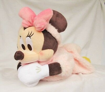 Minnie Mouse Tissue Box Cover Plush Doll Type Disney Store Japan Free Shipping