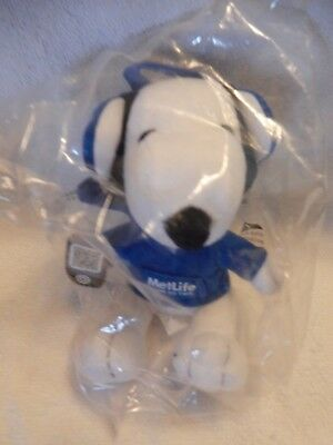Snoopy Metlife plush with snoopy in a I Can Do This Hoodie And Earphones NIB
