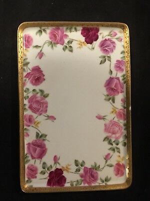 French Limoges Artist Signed Hand Painted Tray