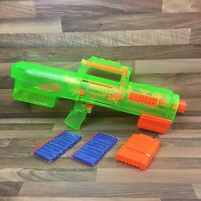Nerf N-Strike Elite Sonic Green Deploy CS-6 With Magazine & 20 New Bullets