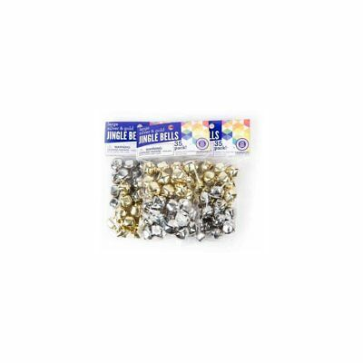 1 Horizon Group USA Gold Silver Jingle Bells 20Mm, 31 count, New Open Package