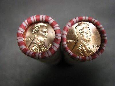 2018 P D Lincoln Shield Cents/Pennys N F String (2) H/T Rolls no rolling marks