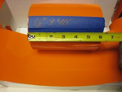 """6"""" x40 ' Roll Solid  ORANGE  REFLECTIVE CONSPICUITY TAPE Sheeting"""