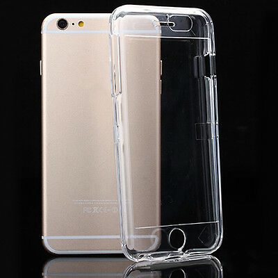 NE_ Crystal Clear Front & Back Hard Case Full Body Cover for iPhone 6S/6S Plus