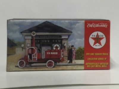 Texaco 1919 Gmc Tanker Die Cast Truck Bank #17 In Series Ertl New