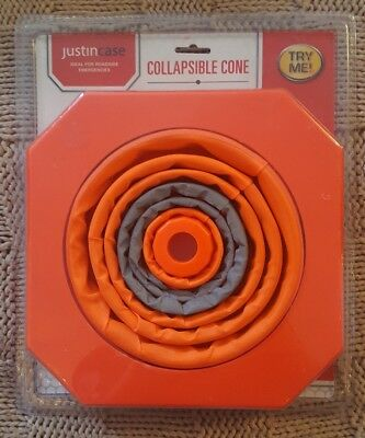 NEW: Just In Case Collapsible Orange Road Cone Hazard Safety