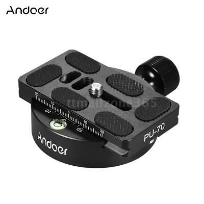 Andoer Aluminum Tripod Head Adapter With QR Plate Compatible for Arca Swiss I5D6