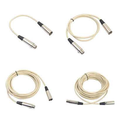 3 Pin XLR Male to Female Microphone Cable Audio Extension Cord for Speaker