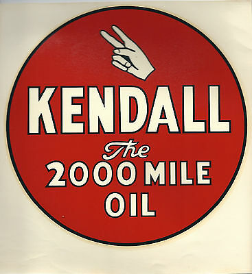 """RARE ORIGINAL 1940's KENDALL THE 2000 MILE OIL 8"""" DECAL"""