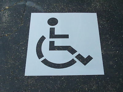 "39"" Handicap Stencil for a Parking Lot Re Usable BIG Edges Flexible 60 Mil LDPE"