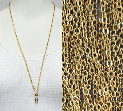"1/5pc Lot Watch chain necklace Repro Victorian chatelaine 29"" Gold lanyard bulk"