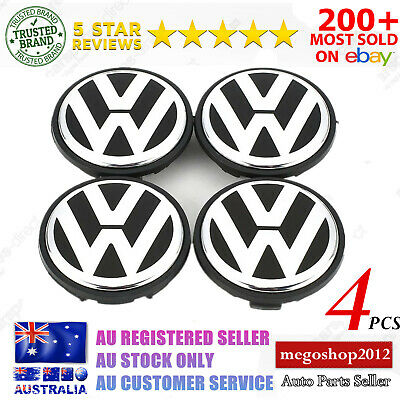 65mm VW Volkswagen Wheel Rims Logo Centre Caps PASSAT Tiguan Golf GTI R EOS AU