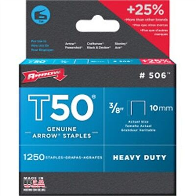 "1/4"" Box Of 1250 T50 Staples - Arrow 6mm 14in"