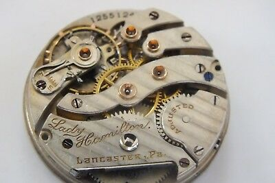 high grade pocket watch movement Hamilton Lady Lancaster working very rare 30mm