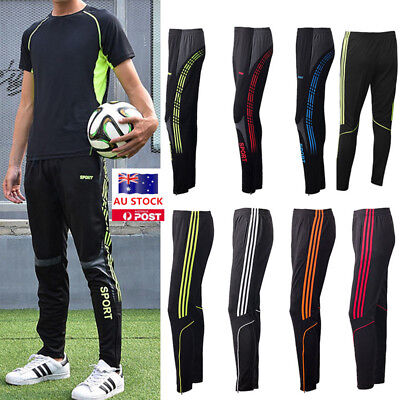 Mens Sport Long Pants Slim Fit Gym Training Running Jogger Casual Track Trousers