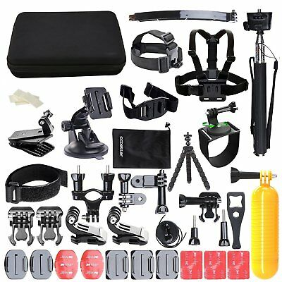 50-In-1 Action Camera Accessories Kit For GoPro Hero Video Cam Mount Tripod Set