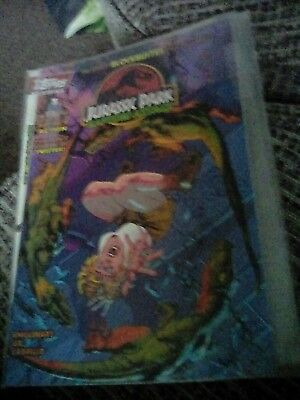 Jurassic Park Raptors attack comic in sleeve #1