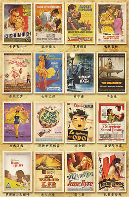 Lot of 32 Travel Postcard Vintage Photo Classic Movie / Movie Star Post Cards