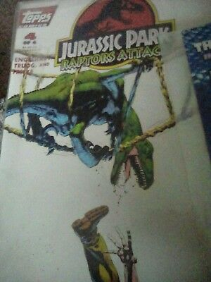 Jurassic Park Raptors Attack Comic #4 in sleeve.