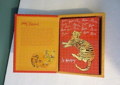 Rare NEW Box of ANDY WARHOL Note Cards -  from 25 CATS NAME SAM & One BLUE PUSSY