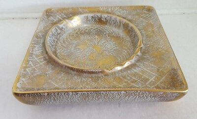 Vintage Stangl Hand Painted 22k Gold - Ash Tray