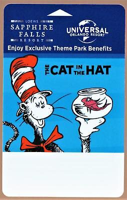 LOEWS SAPPHIRE FALLS RESORT * CAT IN THE HAT* UNIVERSAL ORLANDO hotel key card