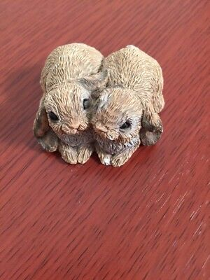 Stone Critters Littles Bunnies Rabbits Lop Ear 1993 Made in USA