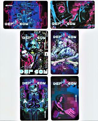 DEF CON 25**** 6 casinos*Complete NEW set OF 6  HTF ***Las Vegas hotel key cards