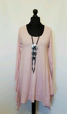 NEW IN LAGENLOOK LAYERING draped panels QUIRKY COTTON boho TUNIC/TOP 12-18