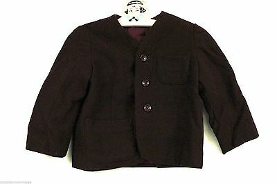 "Little Boys VTG Shorts Suit 1930s-40s Wool Maroon Hand Made 28"" Chest 20"" Waist"