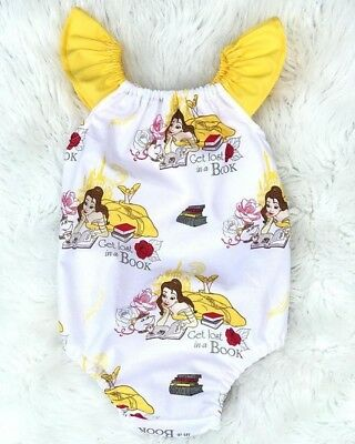 Infant Baby Girl Floral Cartoon Cotton Romper Jumpsuit Clothes Outfit Summer ash