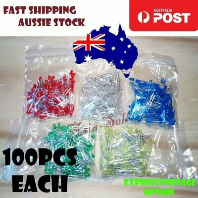 100pcs 3mm LEDs Diode Red Green Yellow Blue White LED - Asia Sell