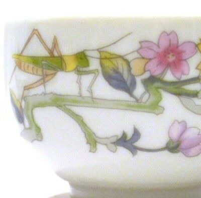 CERAMIC BOWL MADE EXCLUSIVELY FOR ELIZABETH ARDEN in Japan CRICKET DRAGON FLY