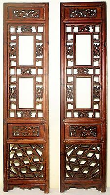 Antique Chinese Screen Panels (2576)(Pair), Cunninghamia wood, Circa 1800-1849