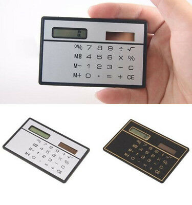 Office Electronics New Ultra Thin Mini Credit Card Sized 8-digit Solar Powered Pocket Calculator Computer & Office