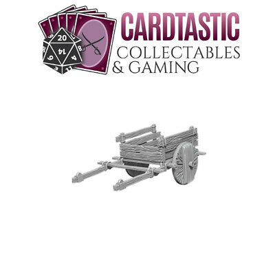 Wizkids Unpainted Deep Cuts Miniatures 2 Wheel Cart