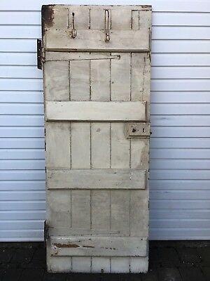 VINTAGE or ANTIQUE WOODEN DOOR. Heavy !