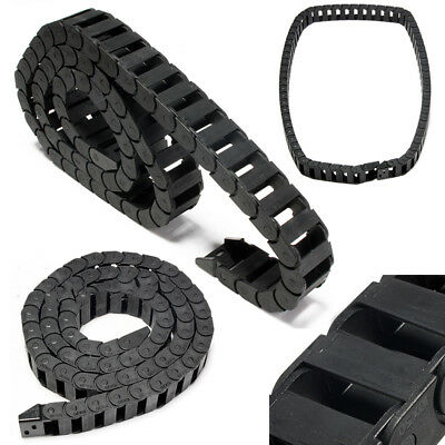 10 x 20mm R28 Black Plastic Drag Chain Nylon Cable Carrier For CNC Router tool