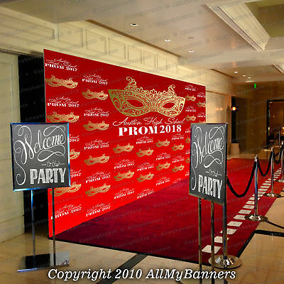 Step And Repeat Backdrop Banner Prom Personalized Photo Custom Trade Show BKDP