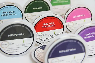 Nickel Alloy Wire-Multi Pack -10 Metre Spools x 8 -32 AWG To 24 AWG -All Options
