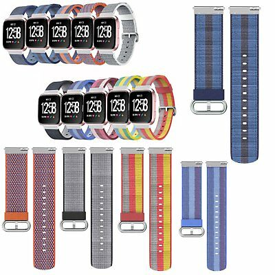 Watch Band Sport Wristband Strap Breathable Nylon Woven Fabric For Fitbit Versa
