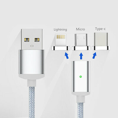 Micro USB Port Magnetic Adapter Charger For Iphone IOS Android Type c Cable AU