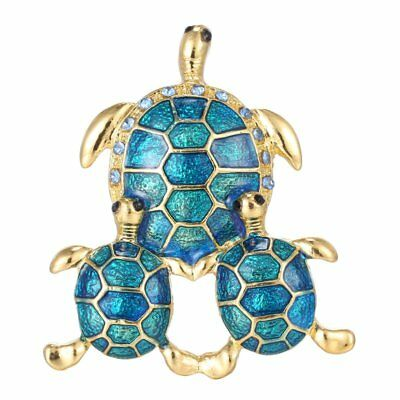 Cute Turtle Animal Crystal Rhinestone Gold Plated Brooch Pin Women Jewellery 1Pc