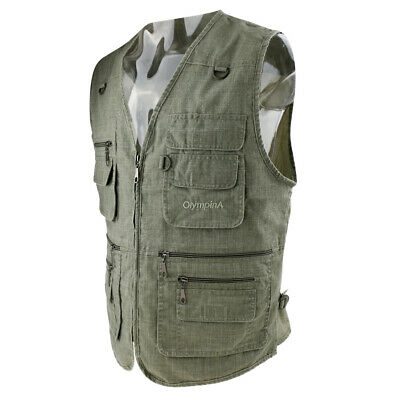 Men's Multi-Pockets Vest for Outdoor Travel Sports Fishing Photography