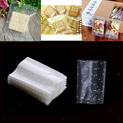 100x Biscuit Cookie Baked Food Packaging Bags Candy Cellophane Heat Sealing Bag