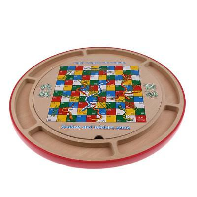 Multifunctional Wooden 18-in-1 Chess Board Checkers Set Family Game Toy Gift