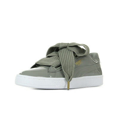 a74c19cfe0594e Chaussures Baskets Puma femme Basket Heart Patent W's taille Gris Grise