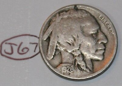 United States 1926 Buffalo Nickel USA Indian 5 Cents Coin Lot #J67